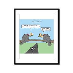 Impatient Buzzards Framed Panel Print