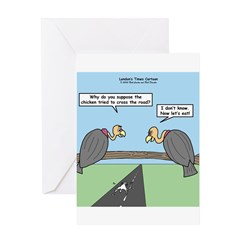 Impatient Buzzards Greeting Card