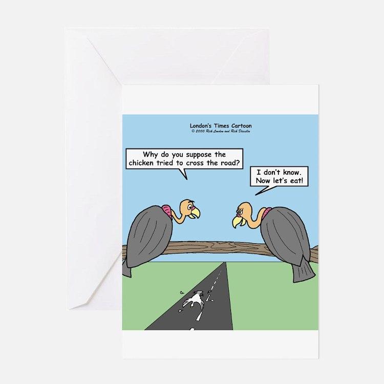Impatient Buzzards Greeting Card