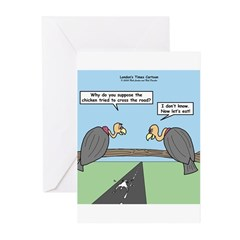 Impatient Buzzards Greeting Cards (Pk of 20)