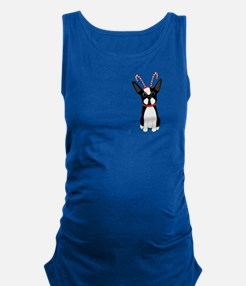 Christmas Boston Terrier Maternity Tank Top