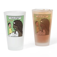 Buffalo Roaming Charges Drinking Glass