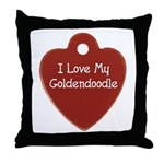 Goldendoodle Tag Throw Pillow