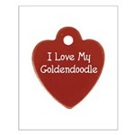 Goldendoodle Tag Small Poster