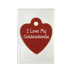 Goldendoodle Tag Rectangle Magnet (100 pack)