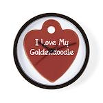 Goldendoodle Tag Wall Clock