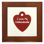 Goldendoodle Tag Framed Tile