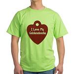 Goldendoodle Tag Green T-Shirt