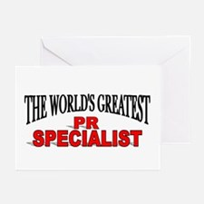 """The World's Greatest PR Specialist"" Greeting Card"