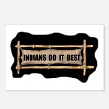 INDIANS DO IT BEST Postcards (Package of 8)