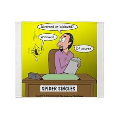 Black Widow Spider Dating Throw Blanket