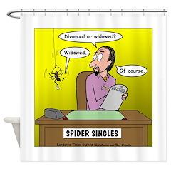 Black Widow Spider Dating Shower Curtain
