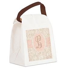 Vintage Floral L Canvas Lunch Bag