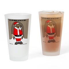 Bear Clause Drinking Glass
