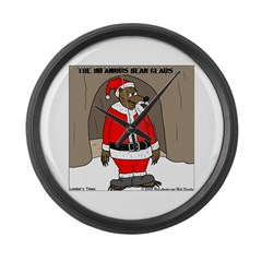 Bear Clause Large Wall Clock
