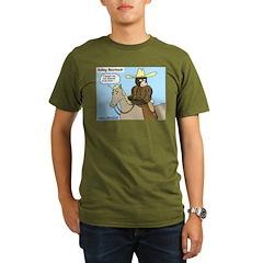 Bear Back Riding Organic Men's T-Shirt (dark)