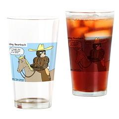 Bear Back Riding Drinking Glass