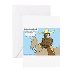 Bear Back Riding Greeting Card
