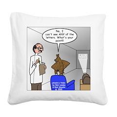 Blind as a Bat Square Canvas Pillow