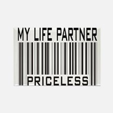 My Life Partner Priceless Barcode Rectangle Magnet