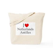 """""""I Love Netherlands Antilles"""" Tote Bag"""