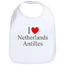 """I Love Netherlands Antilles"" Bib"