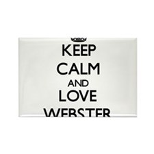Keep calm and love Webster Magnets