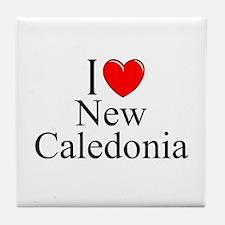 """""""I Love New Caledonia"""" Tile Coaster"""