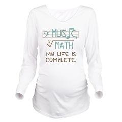 Math and Music Long Sleeve Maternity T-Shirt