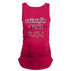 Math and Music Maternity Tank Top