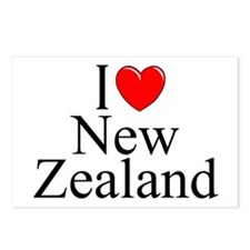 """I Love New Zealand"" Postcards (Package of 8)"