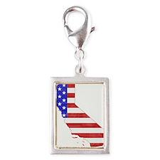 California Flag Silver Portrait Charm