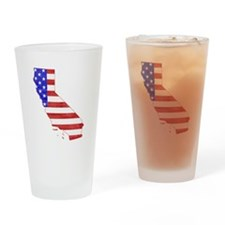 California Flag Drinking Glass