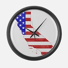 California Flag Large Wall Clock