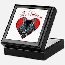 Chinchilla Valentine Keepsake Box