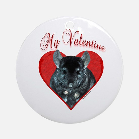 Chinchilla Valentine Ornament (Round)