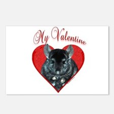 Chinchilla Valentine Postcards (Package of 8)
