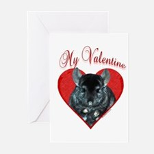 Chinchilla Valentine Greeting Cards (Pk of 10)