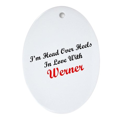 In Love with Werner Oval Ornament