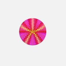 Groovy Bright Pink Abstract Mini Button