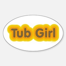 Tub Girl Mod Oval Decal