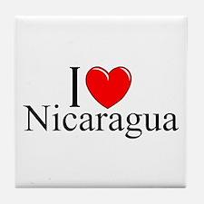"""I Love Nicaragua"" Tile Coaster"