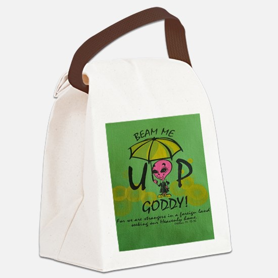 Beam Me Up Goddy! Canvas Lunch Bag