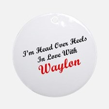 In Love with Waylon Ornament (Round)