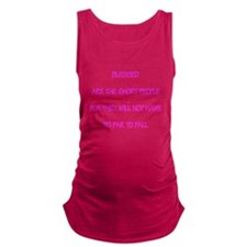 Blessed are the short people Maternity Tank Top