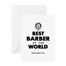 The Best in the World – Barber Greeting Cards