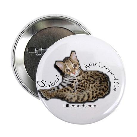 "Asian Leopard Cat 2.25"" Button (10 pack)"