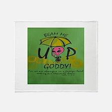 Beam Me Up Goddy! Throw Blanket