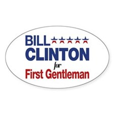 Bill Clinton For First Gentleman Decal