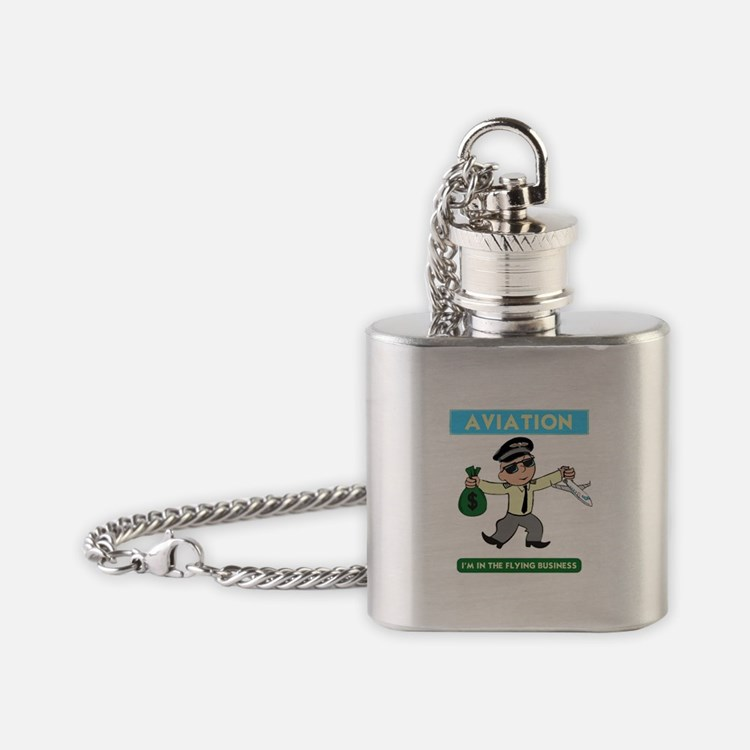 """""""I'm in the Flying Business"""" Flask Necklace"""
